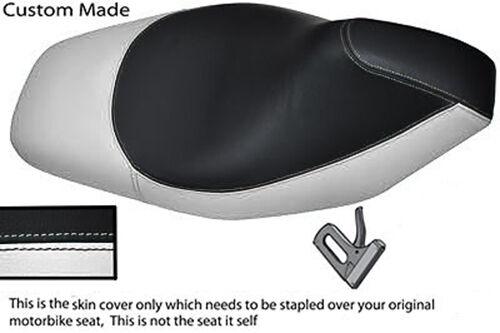 WHITE & BLACK VINYL CUSTOM FITS GILERA RUNNER SP 50 125 ST VX SEAT COVER