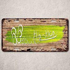 LP0269 Flip flop wood Rust Auto License Plate cafe Bar Home Wall Door Decor sign