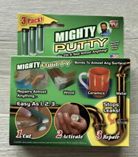 Mighty Putty 3 Pack Bond Repair Seal Metal Concrete Glass Wood