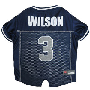 Russell-Wilson-Seattle-Seahawks-3-Licensed-NFLPA-Dog-Jersey-Blue-Sizes-XS-XL