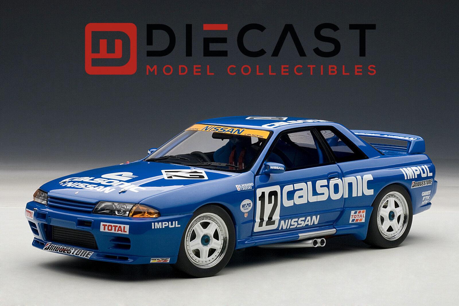Autoart 89079 Nissan Skyline GT-R (R32) Grupo A Escala 1990 Calsonic  18TH