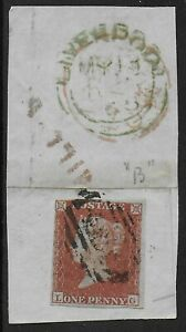 SG8-1841-1d-3-Margins-Used-On-Piece-With-Interesting-Postal-Markings-Ref-0885