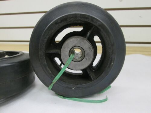 """2 5/"""" x 2/"""" RUBBER CASTER WHEELS ~ NEW ~"""