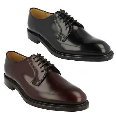 Loake Drake Plain Derby Shoe Black