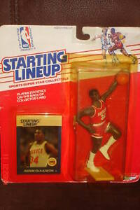 Hakeem Akeem Olajuwon 1988 Starting Line Up Kenner Figure!Houston Rockets C GOAT