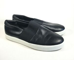 Vince Black Leather Corbin Slip