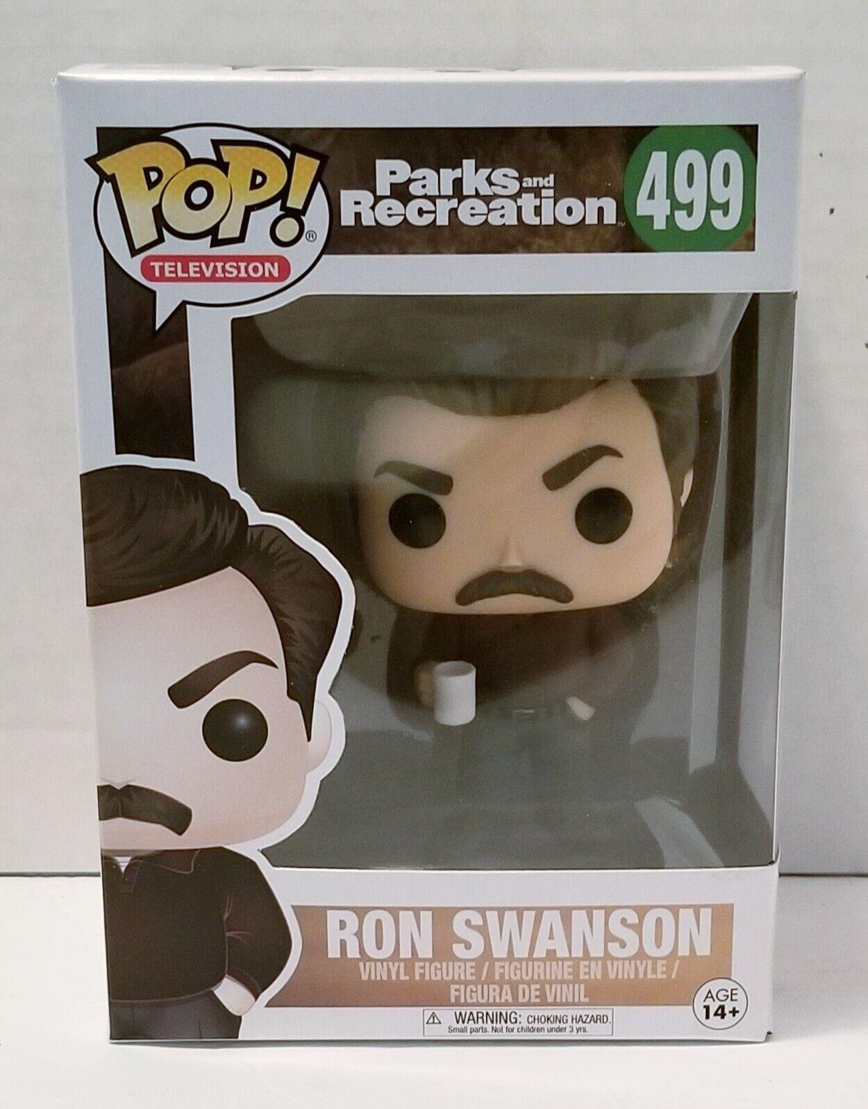 Funko POP Television 499 Parks and Recreation Ron Swanson Figure Avec Protecteur