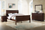thumbnail 1 - NEW Queen King 4PC Cherry Brown Cherry Sleigh Bedroom Set Traditional Bed/D/M/N