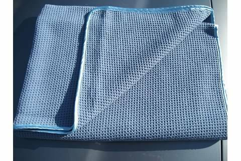 BIG BLUE WAFFLEWEAVE MICROFIBER SUPER ABSORBENT TOWEL Made in Korea 60x35/""