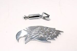Polished Aluminum Universal Rear View Interior Mirror Eagle Style Hot Rod
