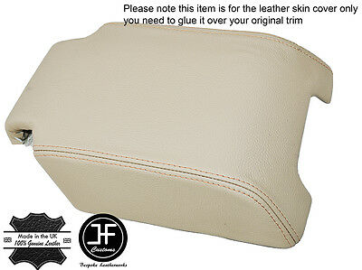 BEIGE LEATHER BEIGE ST ARMREST COVER FOR LANDROVER DISCOVERY 3 4 LR3 LR4 04-15