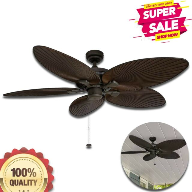 Ceiling Fan Five Palm Leaf Blades 52Inch Trcal Honeywell ...