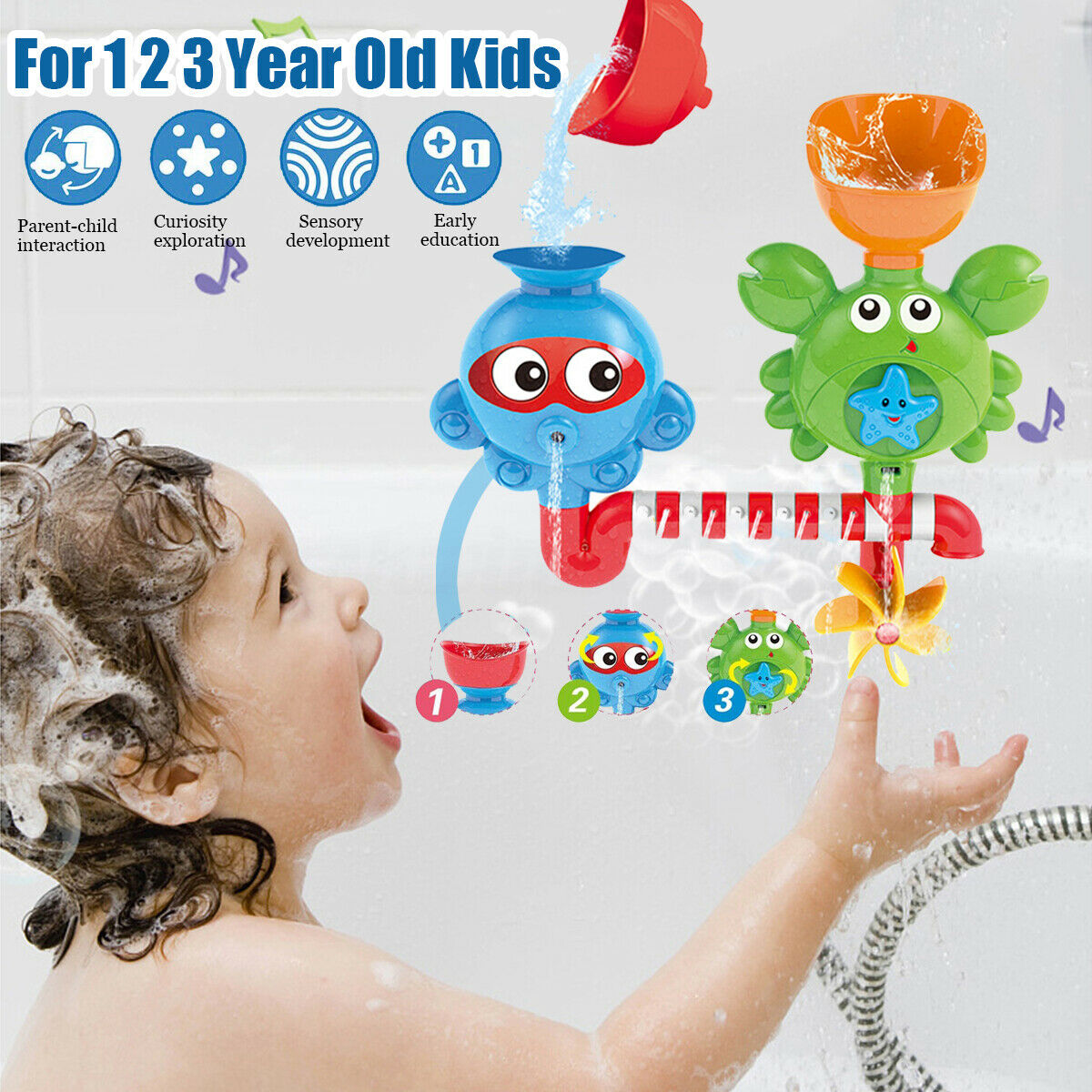 Baby Children Funny Baby Gift Cartoon Flow Fill Spout Bath ...