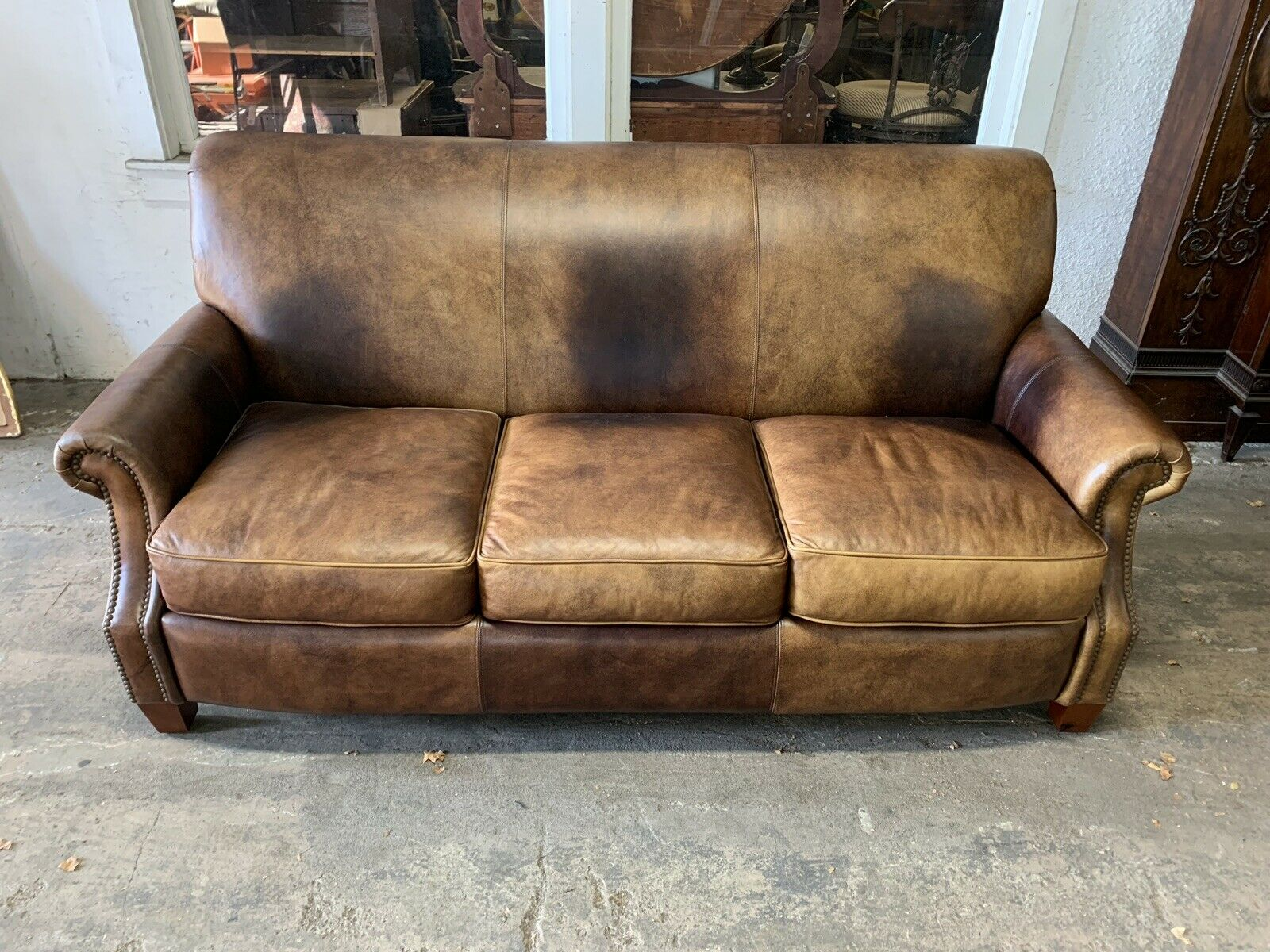 Thomasville Leather Sofa Couch For Sale Online