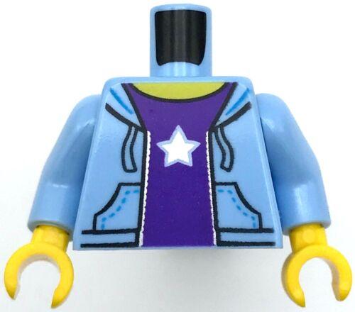Lego New Medium Light Blue Torso with Star Pattern Sweatshirt Piece