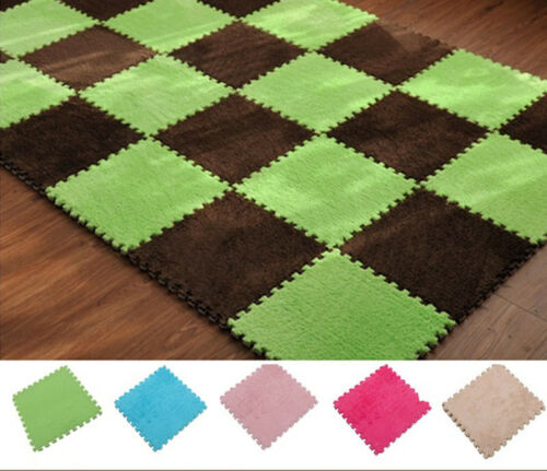 5Pac Interlocking Eva Foam Play Floor Mats Soft Safety Baby Kids Crawling Pad US