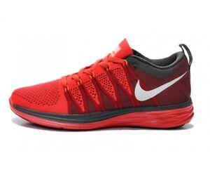 NIKE-Flyknit-Lunar-2-Free-Sommer-Sneaker-Rot-Red-Gr-42-5-US-9-Running-Sport