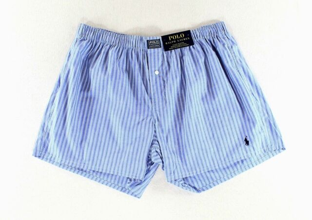 2ce7171fbdd8 Polo Ralph Lauren NEW Blue Striped Mens Small S Classic Fit Boxer Underwear   318