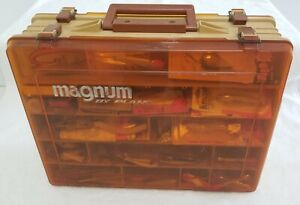 Vintage Plano MAGNUM 1152 Tackle Box With Lures Tackle Fishing