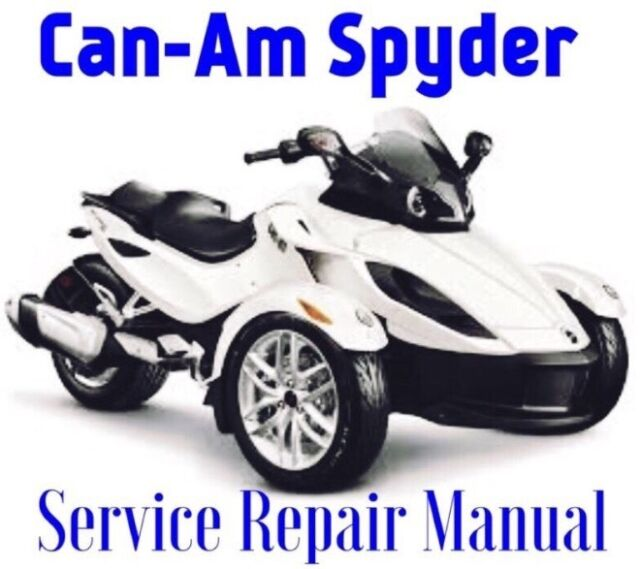 2016 can am spyder rs rt st service repair manual parts wiring rh ebay com  2009 can am spyder wiring diagram