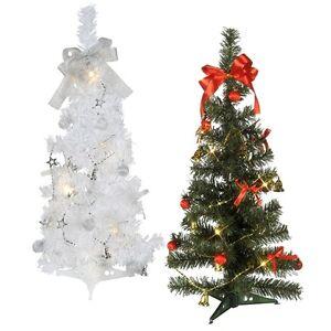 weihnachtsbaum 60cm inkl deko led lichterkette mit timer. Black Bedroom Furniture Sets. Home Design Ideas
