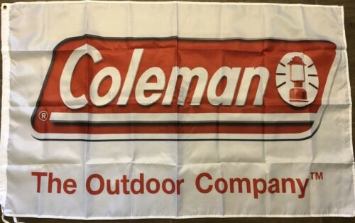 Coleman Flag 3x5 The Outdoor Company Banner Camping Lanterns Man Cave