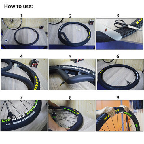 """2pcs Road Bike Bicycle Tire Liner 700C//26/""""//27.5/""""//29/"""" Protect Puncture Proof Pads"""