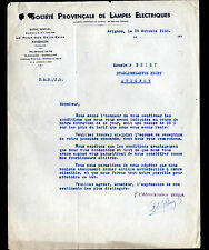 """AVIGNON (84) USINE du PONT-des-DEUX-EAUX / LAMPES ELECTRIQUES """"THORIA"""" en 1933"""