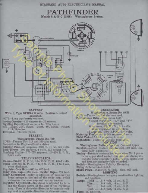 1920 1921 Studebaker Light Six Car Wiring Diagram Electric