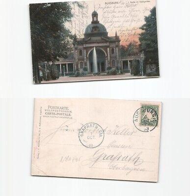 (b80705) Ansichtskarte Augsburg Stadtgarten 1903 Nach Grafrath