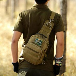 2e3eaab79c91 Details about Men Shoulder Bag Messenger Bags Hamburg Chest Pack Military  Tactical Bag