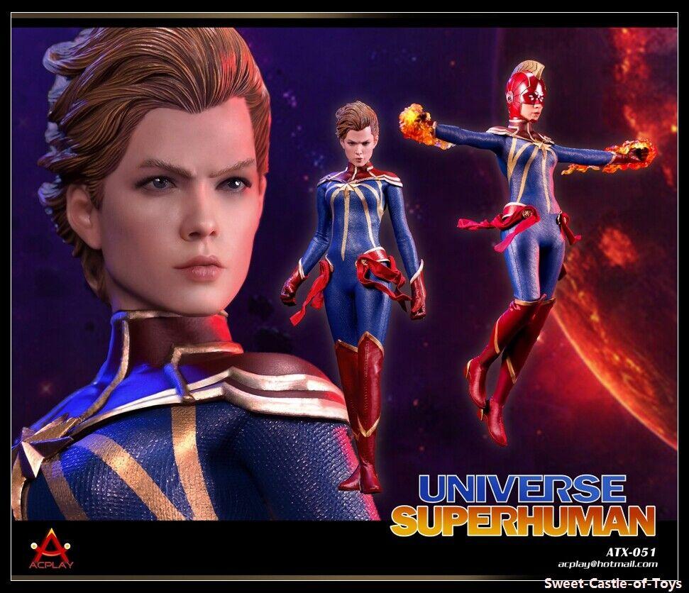 AcJugar 1 6 Figura de Acción Universo sobrehumana Hembra Completo Figura Cabezas De con 2 ATX051