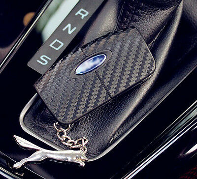 Ford Fiesta Focus C-S-Max Galaxy Carbon Fiber Key Chain Protective Cover Sticker