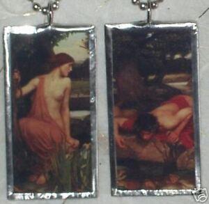 MYTHOLOGY-ECHO-AND-NARCISSUS-ART-GLASS-PENDANT