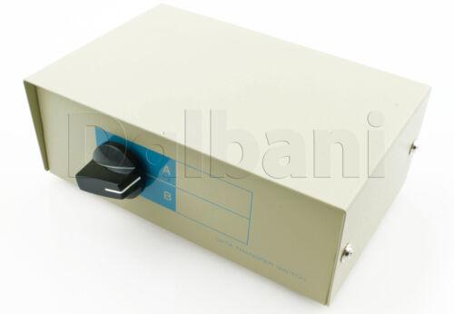 95-3050 Manual Switch Box DB15 Heavy Duty 5 PIn Din 2 way