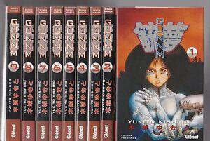 GUNNM-tomes-1-a-9-Yukito-Kishiro-MANGA-seinen-SERIE-COMPLETE