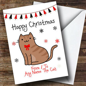 Brown-Tabby-From-Or-To-The-Cat-Pet-Personalised-Christmas-Card