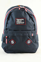 Superdry Trinity Montana Canvas Rucksack Backpack Bag Navy Blue