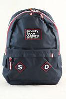 Superdry Trinity Montana Canvas Rucksack Backpack Bag Navy Blue