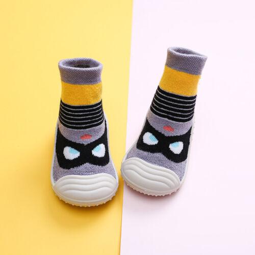 Infant Baby Toddler Sock Newborn Warm Anti Slip Shoes Socks Cotton Crib Shoes UK