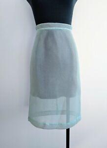 Max-Co-Mint-Green-Blue-Mesh-Pencil-Skirt-High-Waisted-see-through-AU-6-XS