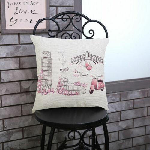 Fashion Paris Building Printed Cushion Cover Creative Romatic Design Pillow Case