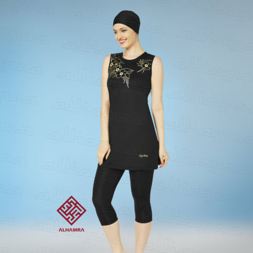 AlHamra AL0712 Capri modesto Burkini Costumi Da Bagno Costume Da Bagno musulmano islamico COVER SEMI