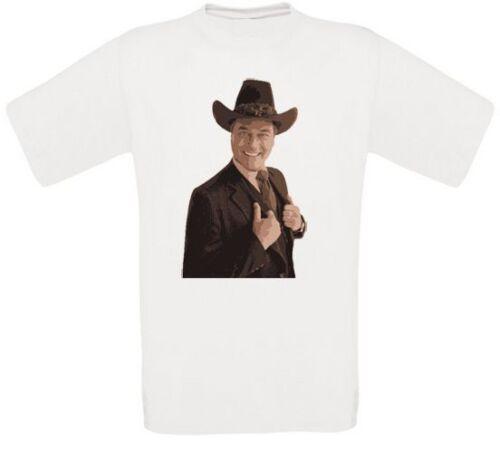 Jr EWING DALLAS Larry cœurs John ross tv J.R Ewing t-shirt toutes tailles NEUF