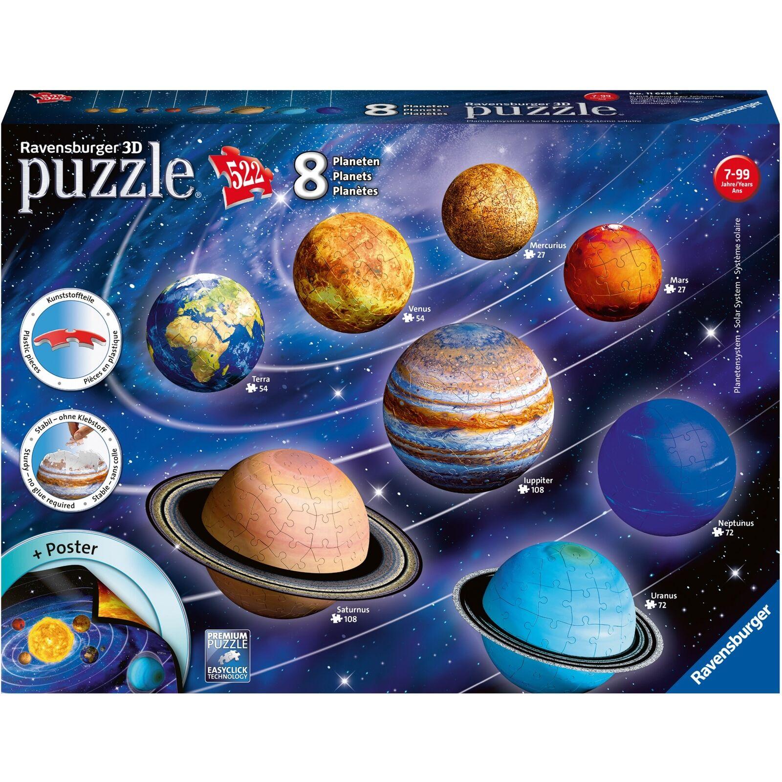 Ravensburger 3D-Puzzle Planetensystem  | Attraktives Aussehen
