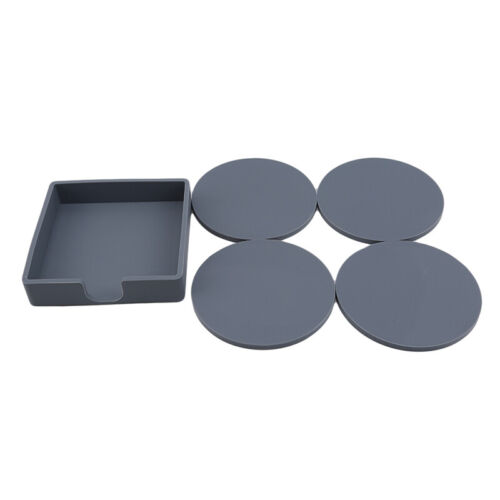 4pcs Silicone Coaster Round Tea Cup Drink Holder Mat Placemat Pad  N3