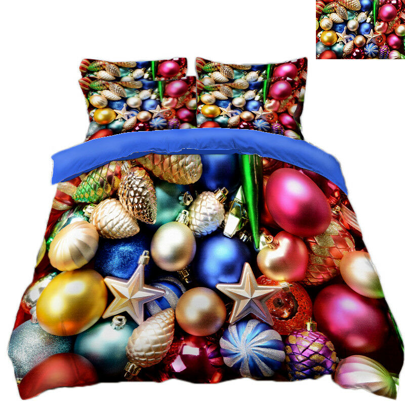 3D Christmas Xmas 603 Bed Pillowcases Quilt Duvet Cover Set Single Queen King AU