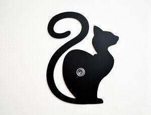 Cat-Waiting-Silhouette-Wall-Hook-Coat-Hook-Key-Hanger