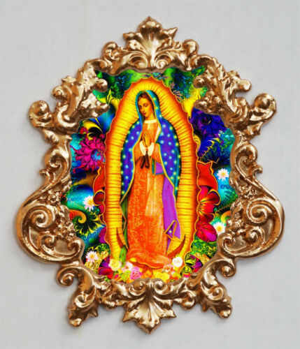 Our Lady of Guadalupe-1 Applique Furniture mount//decor,Faux ormolu