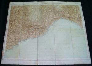 MILITARY-GEOGRAPHY-INSTITUTE-OF-ITALY-TOPOGRAPHIC-MAP-GENOVA-GENOA-QUADRANT-1924